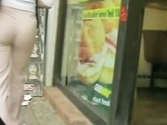 Incredible ass in a street candid cam video