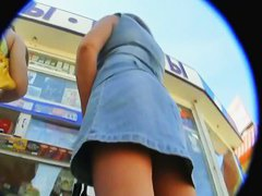 Exquisite piece of ass on an upskirt video