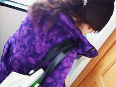 An alluring Asian chick caught on a voyeur spy cam video pissing