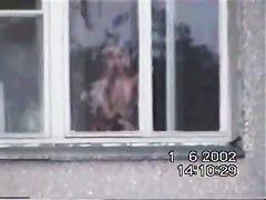 Real neighbour voyeur blonde teen