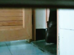 Hot video of an Asian girl pssing in the public toilet