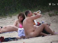 Hot naked bodies at the nudist beach
