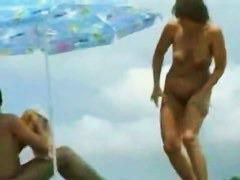 Real amateur mature hidden nudist voyeur video