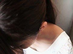 Amateur japanese teen brunette downblouse vid