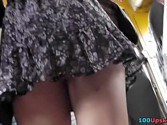 Horniest wind blown up petticoat on livecam