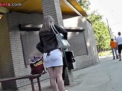 Obese legs and panty up the petticoat