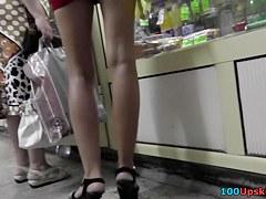 High heeled beauty hawt mini petticoat up petticoat