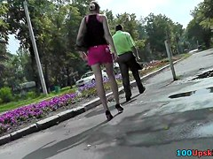 Beauties upskirt pink belt got on spy web camera