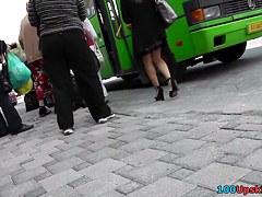 Cutie in hawt high heels darksome up petticoat