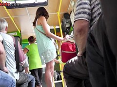 Valuable upskirt shots from the bus