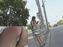 White panty upskirt flashed on my livecam