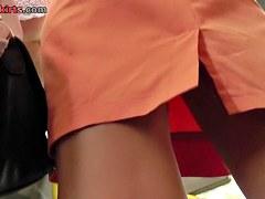 Blond fem provided hawt up petticoat view