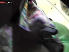 Hotty allows cameraman let off her upskirt