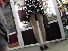 Additional lengthy legs with arse up petticoat