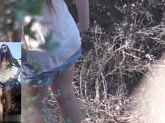 Girls Pissing voyeur video 154