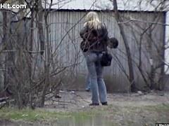 Girls Pissing voyeur video 163