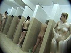 Hidden cameras in public pool showers 180