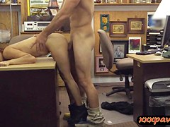 Lovely coed goes to the pawnshop and gets fucked for cash