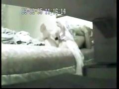 milf and her dildo. Hidden cam in bed room