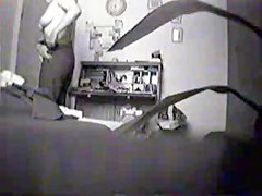 Cougar is changing clothes in spy cam voyeur vid