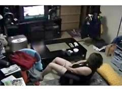 My kinky mummy masturbating watching a porno. Hidden cam