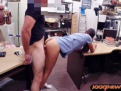 Hottie nurse goes to a pawnshop and gets pounded for money