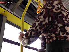 Upkirt view of the amateur woman caught in public