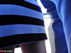 Real upskirts filmed right in the public transport