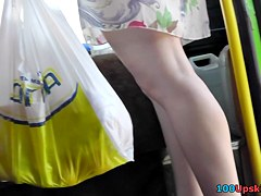 She was going home and filmed on upskirt camera