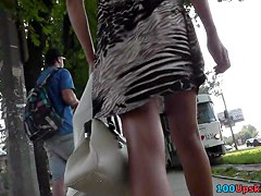 Public upskirts of the chick that lives not far away