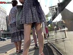 Long legged girlfriend in the free upskirt movie