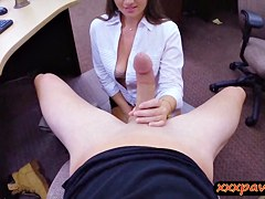 Big butt honey pawns her vagina and fucked by pawnkeeper