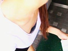 Down blouse video of dumb Asian girl