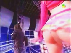 Five amazing chicks letting everyone gaze upskirt at their perfect asses