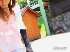 Downblouse video of hot asian milfs out in the open