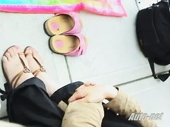 Asian beauty downblouse candid video for free