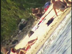 Nude beach sexy girls craze voyeur video