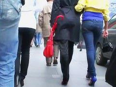 Street candid videos of round ass women in public