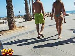 Perfect shape blonde girl on the nude beach voyeur video