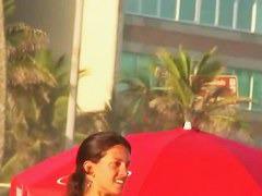 Volleyball brunette goddess new voyeur beach video for free