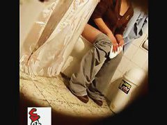 Babe peeing in front of a hidden cam