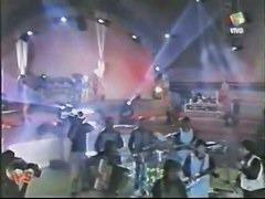 Disco dancing bimbos make for hot upskirt TV
