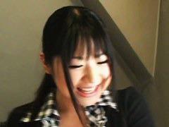 Sweet Asian chick has a voyeur peeking down her blouse