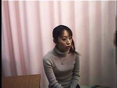 Asian cutie filmed by a spy cam getting a medical