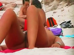 Voyur vid of two very naked and very sexy women on a nudists