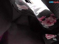Superb upskirt XXX with young girl and her lacy panty