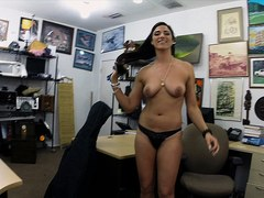 Horny and sexy brazillian woman gets fucked by Shawn the shop owner