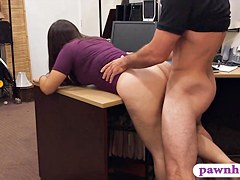Couple girls try to steal and get banged at the pawnshop