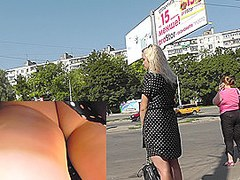 Hot accidental upskirt pics with sexy blondedame
