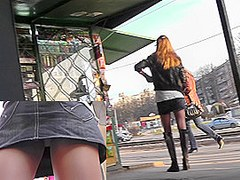 Hot lady in hessian boots in the free upskirt video